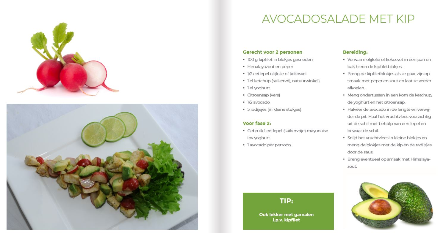 reset36 recept avocado kip